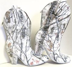 Snow White Camouflage women's western bridal by TheExpressiveSole