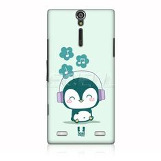 Ecell - HEAD CASE MUSIC LOVER PENGUIN KAWAII PENGUIN BACK CASE FOR SONY XPERIA S LT26i:Amazon:Electronics