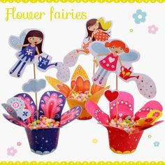 Cajitas las Hadas de las Flores para Imprimir Gratis.