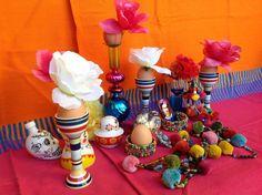 4 dekoracje wielkanocne pisanki swiateczny stol etno easter decorating easter eggs holiday table setting mexican easter ethnic boho folk styling