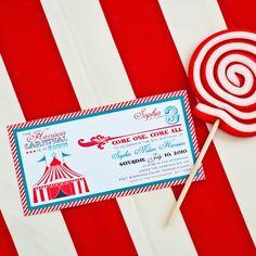 Circus Birthday Party Printable