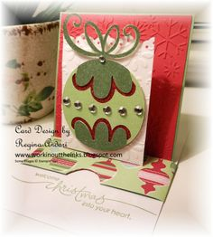 cricut christmas card ideas | WORKIN' OUT THE INKS: HOLIDAY SLIDING POP-UP