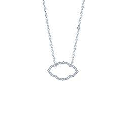TAJ Horizontal Necklace || 18k GOLD WHITE DIAMOND TAJ HORIZONTAL NECKLACE ON 16″ CHAIN WITH 1DIAMOND BY THE YARD || GOLD: 3.8 g TDW: 0.31 ct || #SaraWeinstockJewelry #SWGem