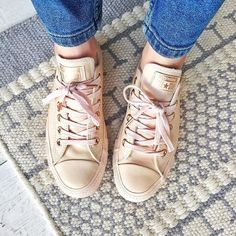 Brb, currently in shoe heaven with my new Rose Gold @converse from @officeshoes #officexconverse