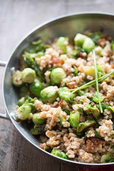 Recipe for Brussels Sprouts and Farro Salad FoodBlogs.com