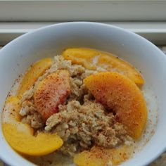 Grain Crazy: Amaranth and Oatmeal Hot Cereal with Peaches