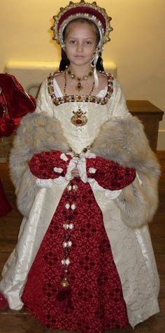 Tudor Costume...this is a lot of work for someone who will out grow it in a year...but cute