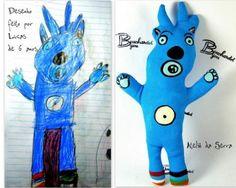 Boneco do #desenho infantil em 3D, Ateliê da Serra