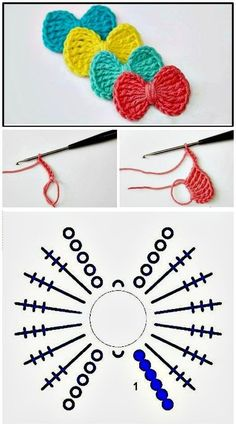 52 Free Crochet Bow Patterns : Free Crochet Bow Tie – Step By Step Instructio. - 52 Free Crochet Bow Patterns : Free Crochet Bow Tie – Step By Step Instructions – 52 Free Croc - Crochet Bows Free Pattern, Crochet Bow Ties, Crochet Hair Bows, Crochet Hair Accessories, Crochet Headband Pattern, Crochet Flower Patterns, Crochet Motif, Easy Crochet, Crochet Flowers