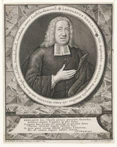 Portret van Leonardus Beels (1674-1756), predikant te Breukelen, Gouda en Amsterdam - Geheugen van Nederland
