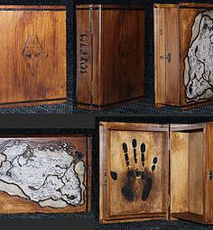 Pudełko z motywem z gry Skyrim. The box with the motif of the game Skyrim. Fan - made. Skyrim, Decorative Boxes, Fan Art, Game, Home Decor, Decoration Home, Room Decor, Gaming, Toy