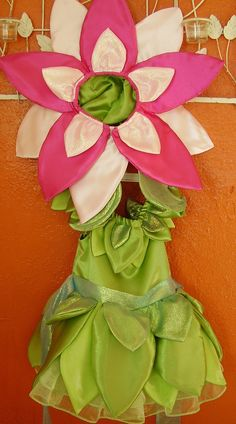 Childs Flower Costume with Headpiece. $130.00, via Etsy.