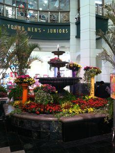 The Atrium Fountain is transformed.