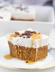 Süßkartoffel Mandel Kuchen mit Kokoscreme