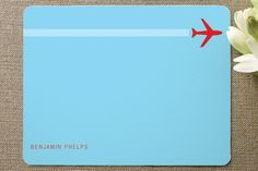 Contrail Personalized Stationery by Marabou at minted.com