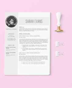 resume cv design for word 2 pages free cover letter design - Templates For A Resume
