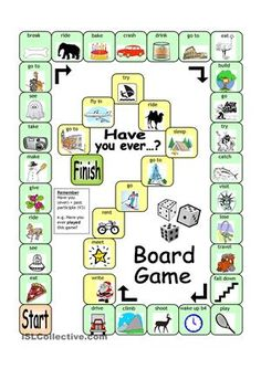 With the easy board game, learners will practise the present perfect in an enjoyable way. Every square provides a verb and a picture clue. Every time a correct question is asked, the game can be used as a communicative activity whereby players ask each follow-up questions. (e.g. Have you ever ridden a camel? Where did you do this? Was it fun? How much did it cost? How long did it last? etc.) Answer key and grammar tip included. Let´s make learning fun!  - ESL worksheets