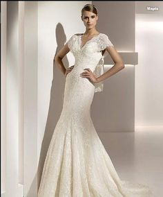Lace Mermaid Flutter Sleeve Gown [WG1483] - $336.00 : LuxeBlue Quality Discount Wedding Dresses & Formal Gowns, Worlds leading supplier of affordable fashion for Wedding dresses, Bridal gowns and discount formal wear. Safe & Fast delivery world wide.