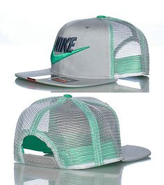 NIKE Mesh trucker style snapback cap Embroidered NIKE logo with swoosh on front Adjustable strap on back for ultimate comfort Lightweight New Nike Shoes, Nike Free Shoes, Nike Shoes Outlet, Adidas Shoes, Adidas Men, Dope Hats, Melissa Shoes, Accesorios Casual, Nike Outfits