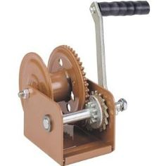 Dutton-Lainson Winch with Automatic Brake - 800-Lb. Capacity by Dutton Lainson. Save 27 Off!. $57.99. Multiple application winch to raise or lower boats, sailboat keels, grain augers and more. Automatic brake holds load in position when handle is released. Minimum operating load of 50 Lbs.  Rugged construction, 7in. handle. U.S.A. Line Pull (lbs.): 800, Speeds: 1, Gear Ratio: 4.4:1, Handle Length (in.): 7, Braking: Automatic, Rope Type: Not Included, Strap: Not Included, Drum Capacity W...