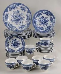 Vintage China Asiatic Pheasant-Blue China, by Johnson Brothers - Blue Willow China, Blue And White China, Blue China, Blue Willow Decor, Antique Dishes, Vintage Dishes, Vintage China, Antique China, Delft