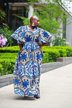African Maxi Dresses, Ankara Maxi Dress, Dashiki Dress, African Outfits, African Clothes, African Attire, Maxis, Boho Mode, Wedding Dress With Pockets