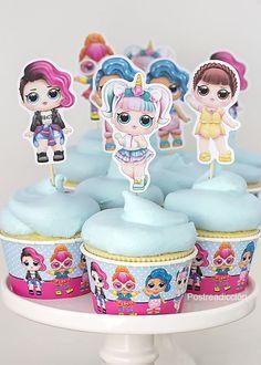 Funny Birthday Cakes, Funny Cake, 6th Birthday Parties, 8th Birthday, Surprise Birthday, Cupcake Cake Designs, Doll Party, Ideas Para Fiestas, Lol Dolls