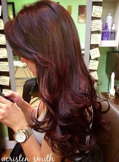 HOW-TO: Give Dark Hair Dimension With Red Violet Tones