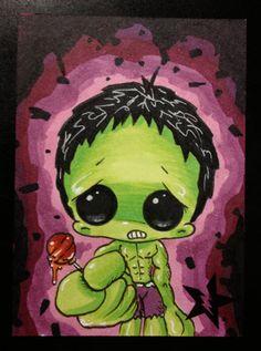 Sugar Fueled Hulk Marvel Avengers lowbrow creepy by Sugarfueledart
