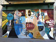 Graffiti & Street-art since 1999 Graffiti, Australian Artists, Street Artists, Public Art, Paris, Les Oeuvres, Art Projects, Photo Galleries, Wall Art