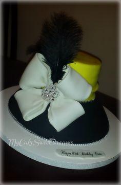 White Black Bling Quot Church Lady Hat Quot Custom Cakes