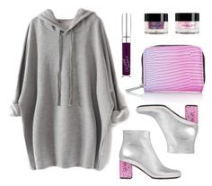 """Unicorn baby"" by baludna ❤ liked on Polyvore featuring Yves Saint Laurent, Inglot, Topshop and GUESS"
