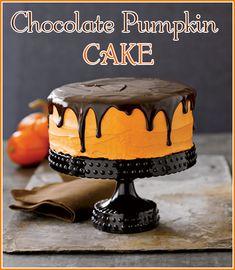 Halloween Recipes {Chocolate Pumpkin Cake} - OH, HOW POSH! BLOG