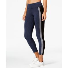 Calvin Klein Performance Colorblocked Yoga Leggings ($35) ❤ liked on Polyvore featuring activewear, activewear pants, calvin klein sportswear, calvin klein activewear and calvin klein