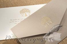 Προσκλητήρια Γάμου με το δέντρο της ζωής και τα μονογράμματα του ζευγαριού Wedding, Valentines Day Weddings, Weddings, Mariage, Marriage, Chartreuse Wedding