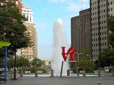 Love Park is a Community Park in Philadelphia. Plan your road trip to Love Park in PA with Roadtrippers. East Coast Travel, East Coast Road Trip, The Places Youll Go, Places To Go, Love Proposal, Indiana Love, Stuff To Do, Things To Do, Visit Philadelphia