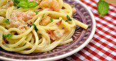 Tejszínes garnélás spagetti recept | APRÓSÉF.HU - receptek képekkel