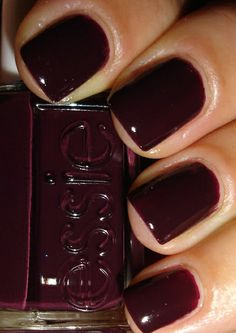 Just slip into this deep and rich creamy red nail lacquer at Fairynails!
