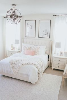 chic bedroom decorating ideas for teen girls 43 - Home - Bedroom Decor Stylish Bedroom, Modern Bedroom, Bedroom Romantic, Minimalist Bedroom, Dream Bedroom, Home Decor Bedroom, Pink Master Bedroom, Bedroom Rugs, Chic Bedroom Ideas