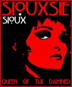 Siouxsie Soux, music poster, pop art, graphic art, illustration.