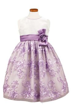Sorbet 'Lilac' Floral Soutache Dress (Big Girls) available at #Nordstrom