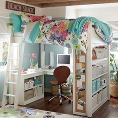 LOVE this! PB teen loft bed