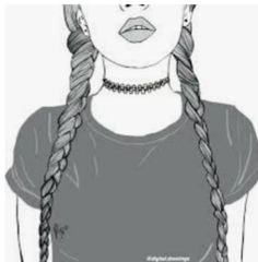 girl drawing black and white Tumblr Outline, Outline Art, Outline Drawings, Cool Drawings, Pencil Drawings, Hipster Drawings, Tumblr Girl Drawing, Tumblr Drawings, Tumblr Art