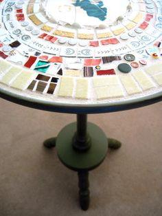 Mosaic Angel Table Cottage Chic Decor by rushcreekmosaics on Etsy, $145.00