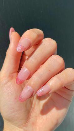 Soft Nails, Aycrlic Nails, Pastel Nails, Nail Tip Designs, Light Pink Nail Designs, How To Grow Nails, Sparkle Nails, Fire Nails, Minimalist Nails