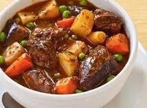 Crock Pot Country Beef Stew - not so much healthy, but comfy.  Just eat a Salad for lunch and a SMALL portion of this for dinner!  Its about portion size peeps.!