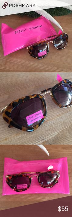 NWT Betsy Johnson Turtoise Shell Sunglasses Betsey Johnson Sunglasses with Turtoise shell frames. These have never been worn and even come with the original plastic wrapping. Betsey Johnson Accessories Sunglasses