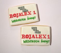 cookies for customers with logo company