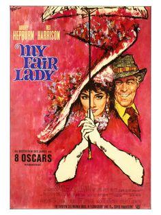 Audrey Hepburn & Rex Harrison 1964  My favorite movie My Fair Lady, Vintage Movies, Vintage Posters, Vintage Ads, Woman Movie, Audrey Hepburn, Classic Movies, Music Tv, Movie Theater