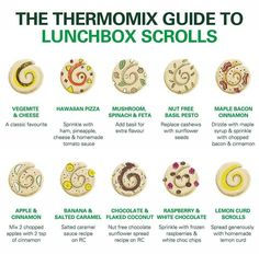 Thermomix guide to making lunchbox scrolls